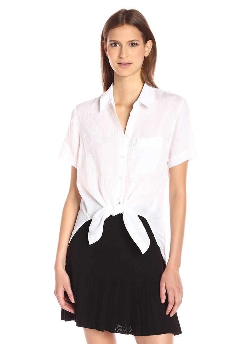 Theory Women's Hekanina Soft Linen Skirt  M