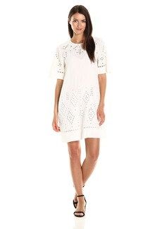 Theory Women's Idetteah_ghost Crepe Dresses c Ivory