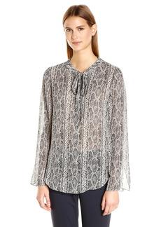 Theory Women's Kimry Snake Print Shirt    L
