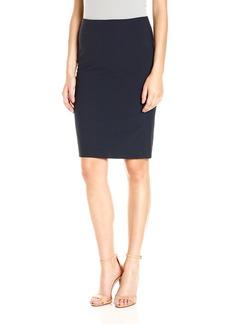 Theory Women's Knee Length Pencil Skirt deep Navy