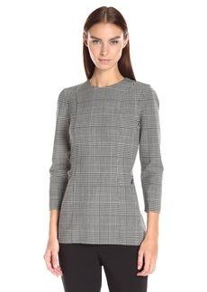 Theory Women's Lauret Cl Portland Shirt  a Black/White