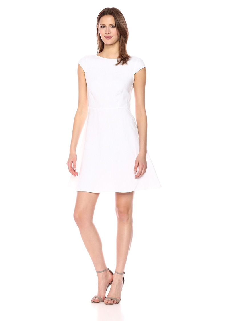 Theory Women's Linen Cap Sleeve Shift Dress