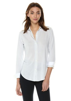 Theory Women's Long Sleeve Essential Buttondown Shirt  L