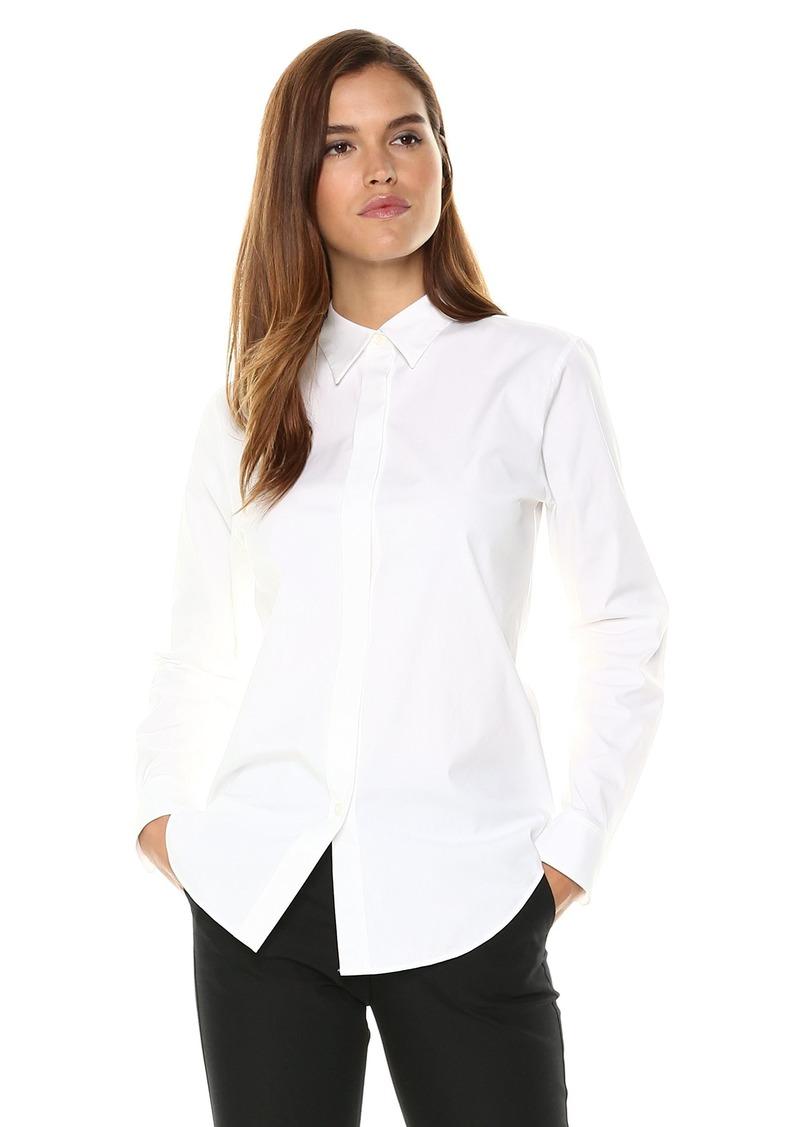 Theory Women's Long Sleeve Essential Buttondown Shirt  M