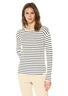 Theory Women's Long Sleeve Relaxed Crewneck T-Shirt  L