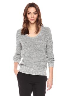 Theory Women's Long Sleeve Scoop Neck Pullover Sweater  P