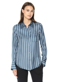 Theory Women's Long Sleeve Slim Collar Buttondown  S
