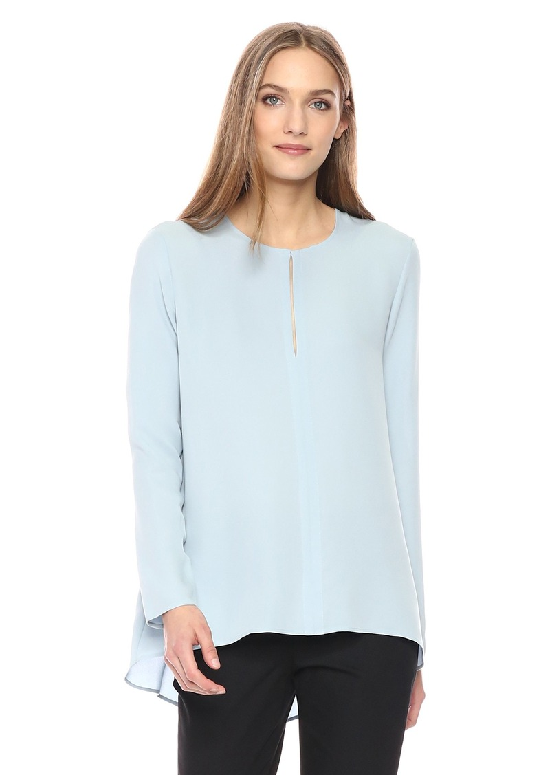 Theory Women's Long Sleeve Slit Front Tunic deep Morning Blue S