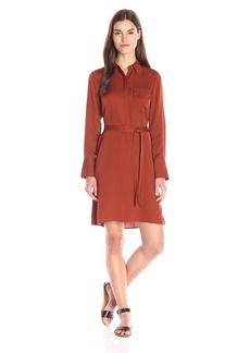 Theory Women's Marbara Modern Ggt Button Front Dress with Belt