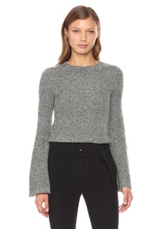 Theory Women's Marled Bell Sleeve Po  L