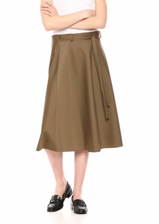 Theory Women's MIDI Workwear WRAP Skirt  S