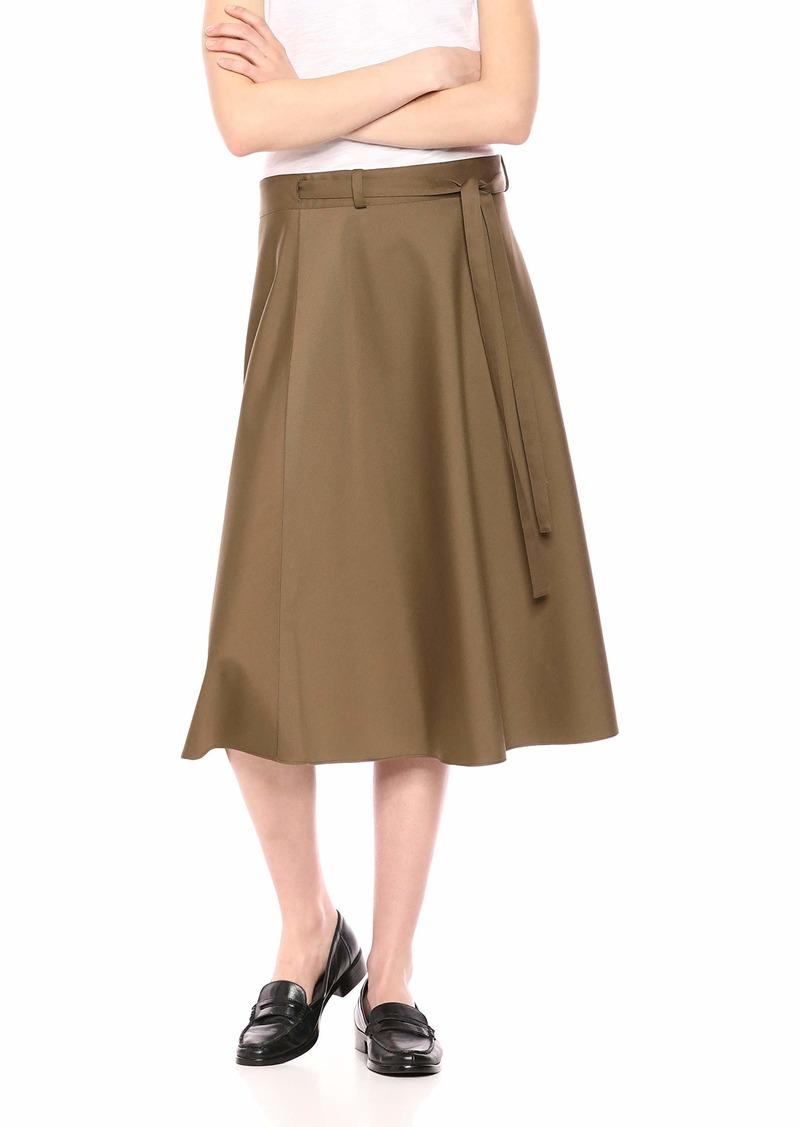 Theory Women's MIDI Workwear WRAP Skirt  S