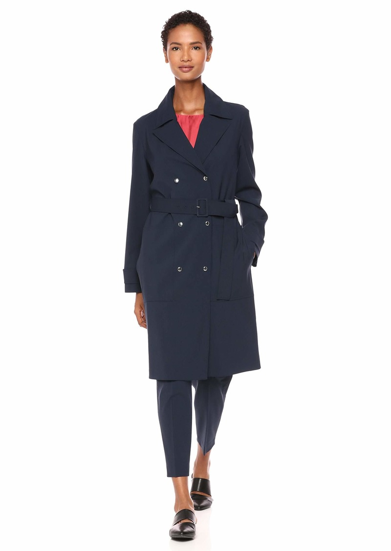 Theory Women's Military Trench core Navy S