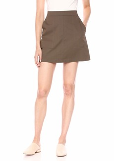 Theory Women's Mini Stitched Pocketed Skirt  P
