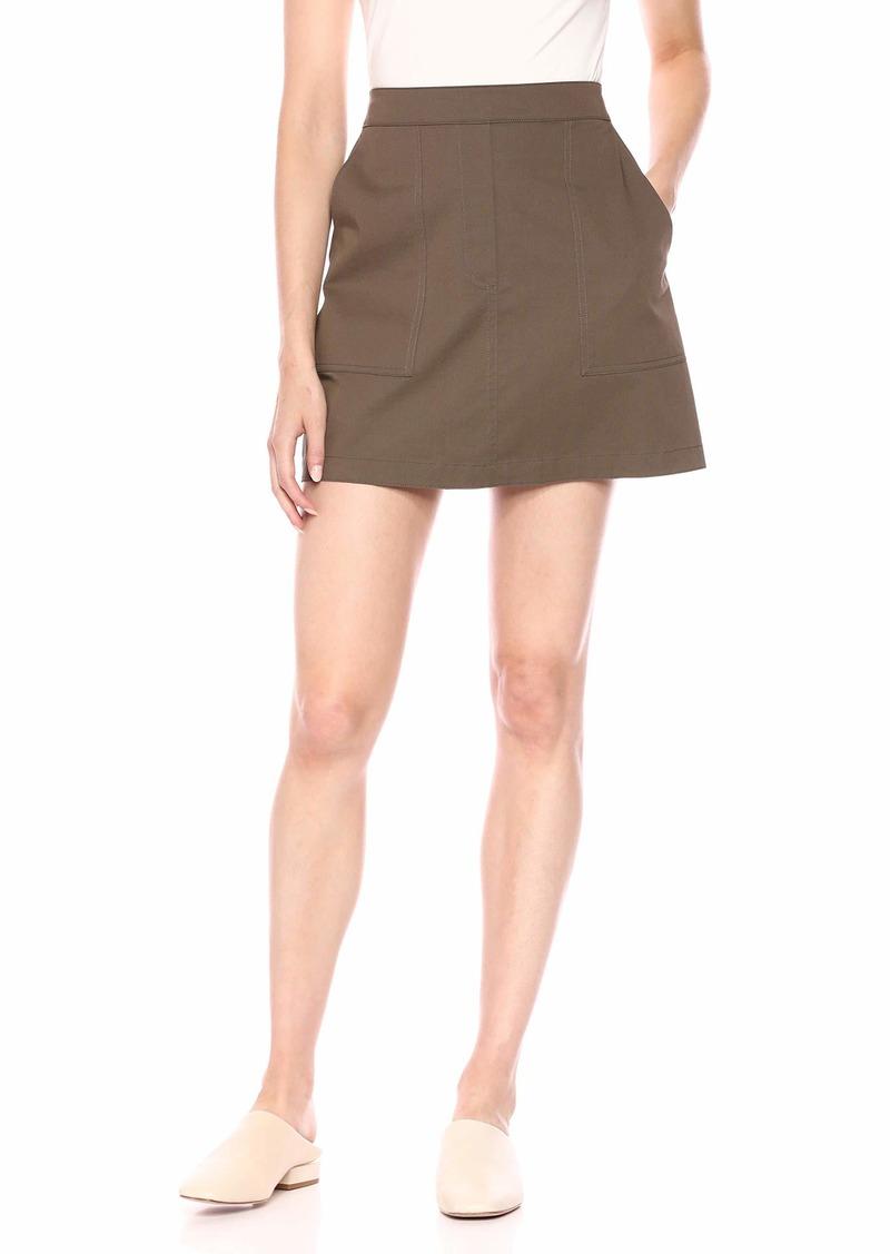 Theory Women's Mini Stitched Pocketed Skirt  P