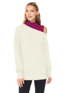 Theory Women's One Shoulder Rib Po Top  P