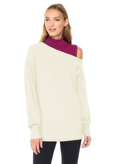 Theory Women's One Shoulder Rib Po Top  S