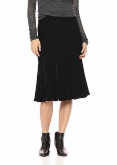 Theory Women's Pleated MIDI Skirt Black M