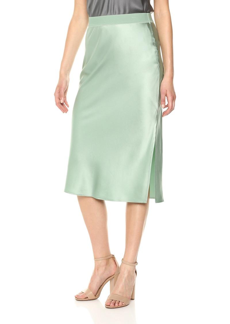 Theory Women's Pull ON MIDI Slip Skirt  P