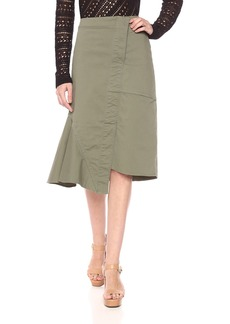 Theory Women's Reconstructed Midi Skirt