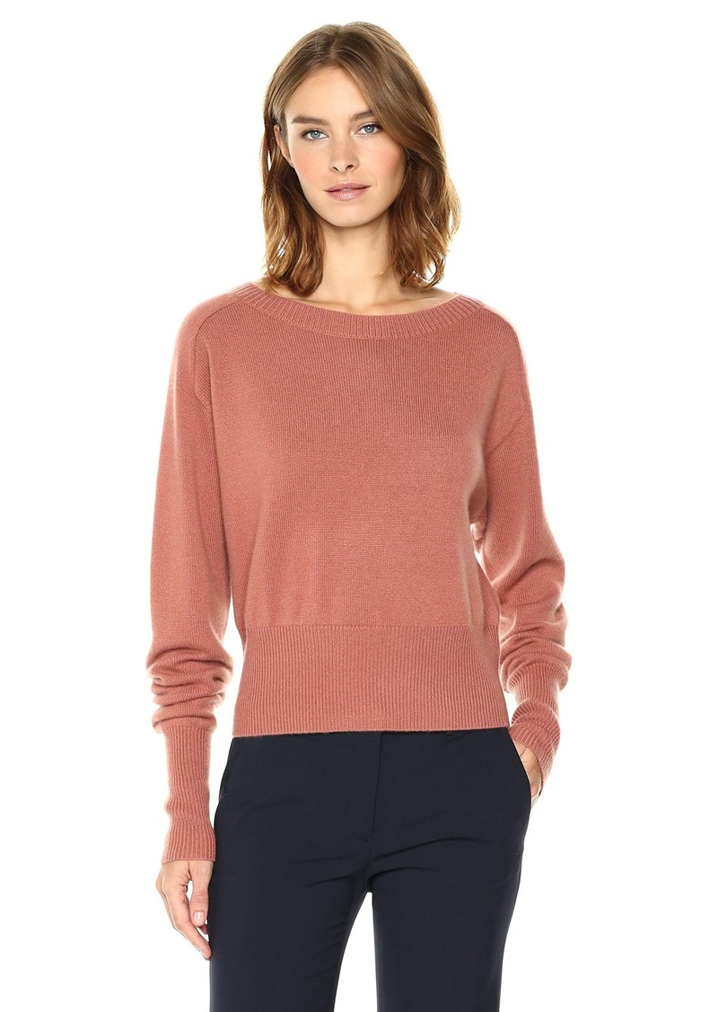 Theory Women's Relaxed Boat Po Top deep Rose M