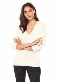 Theory Women's Relaxed Vneck Pullover Sweater  L