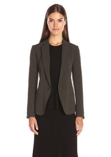Theory Women's Robiva Admiral Crepe Jacket Calla Green