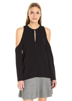 Theory Women's Sarver.Rosina Crepe Top  L
