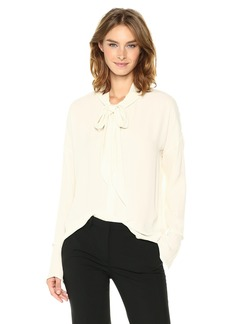 Theory Women's Scarf Shirt B Top  L