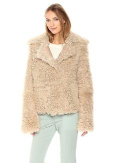 Theory Women's Shearling Peacoat Outerwear  L