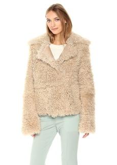 Theory Women's Shearling Peacoat Outerwear  M