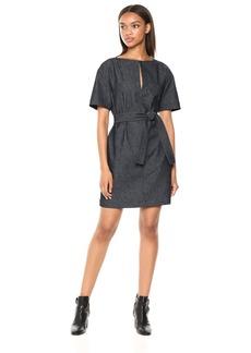 Theory Women's Short Sleeve Belted Shift Dress