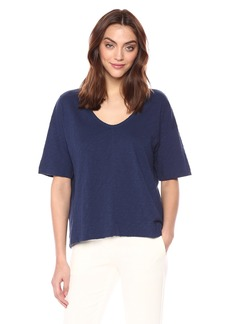 Theory Women's Short Sleeve Relaxed U Neck TEE  L