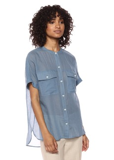 Theory Women's Short Sleeve Rilley Button Front Top  S
