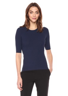 Theory Women's Short Sleeve Tech Rib Crewneck Sweater  M