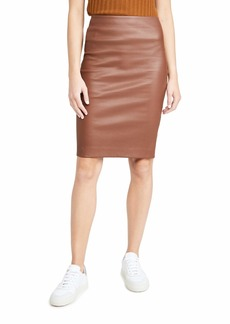 Theory Women's Skinny Pencil Skirt  Brown