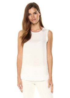 Theory Women's Sleeveless Lewie Silk TOP  L