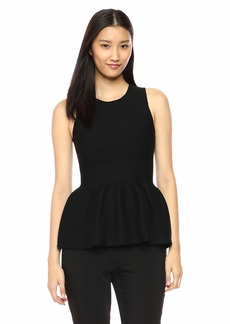 Theory Women's Sleeveless Shaped Peplum Shell  P