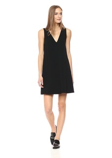 Theory Women's Sleeveless V Neck Shift Dress  L