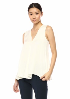 Theory Women's Sleeveless Vneck A LINE TOP  P
