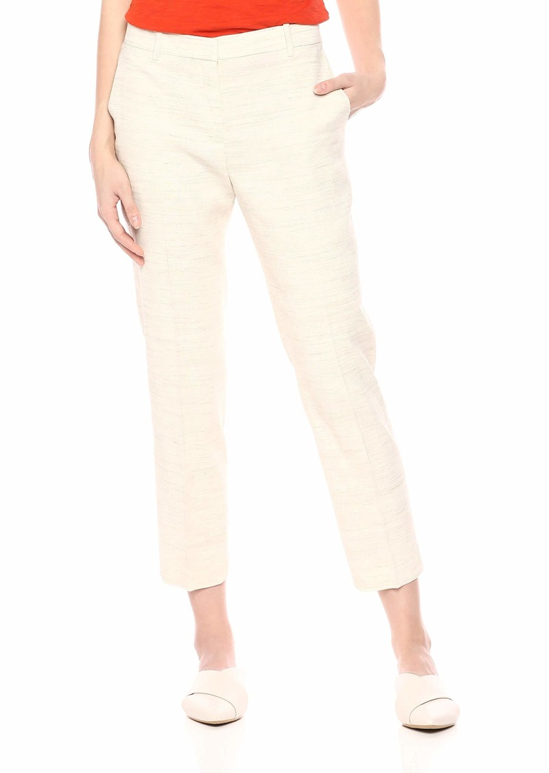 Theory Women's Straight Leg Cropped Tailored Trouser
