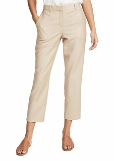 Theory Women's Tailor Trousers  Tan