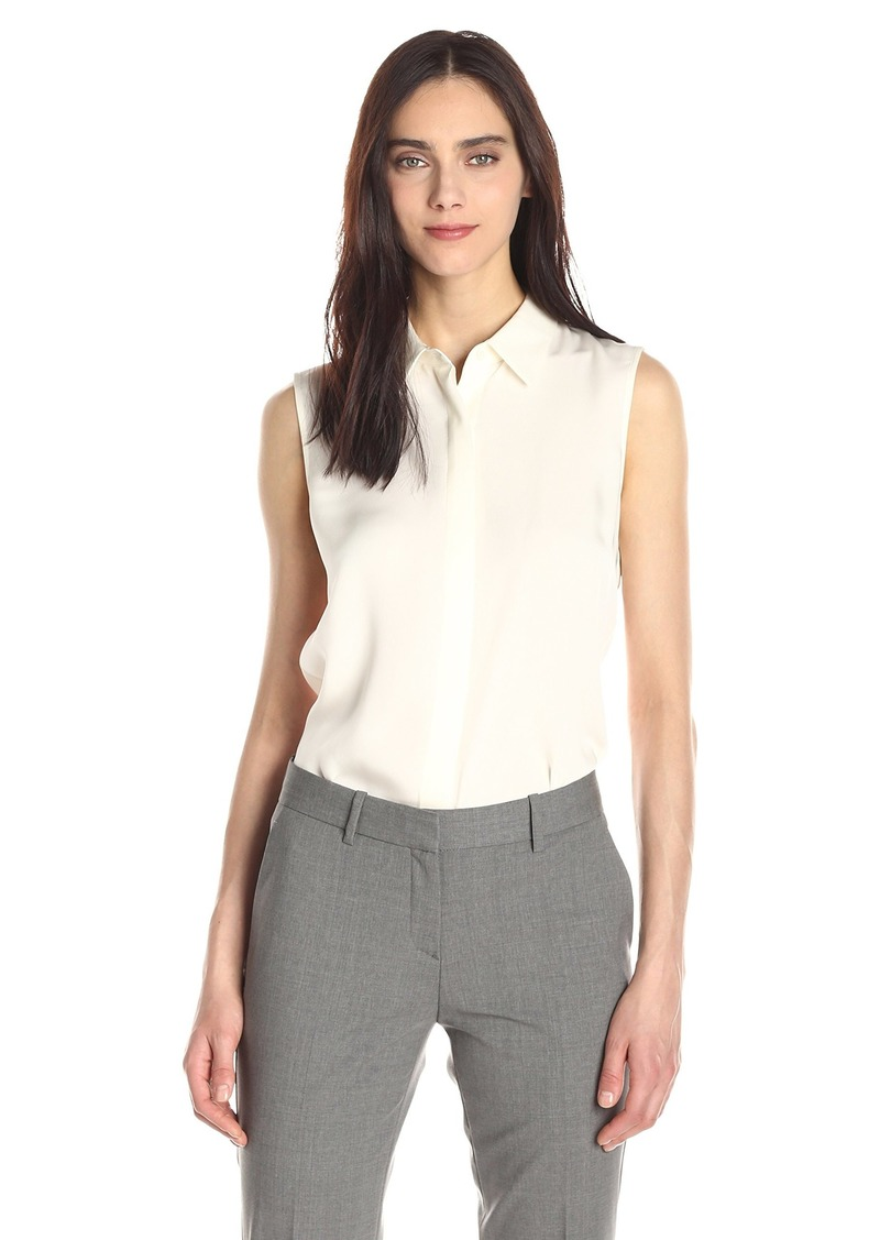 Theory Women's Tanelis Silk Sleeveless Blouse