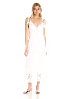 Theory Women's Taytee Light Linen Embroidered Dress