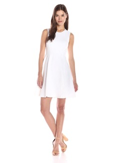 Theory Women's Tespa Breeze Knit Rose Fit and Flare Dress