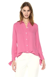 Theory Women's Tie Cuff Shirt 2  P