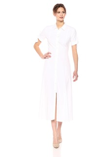 Theory Women's Tie Sleeve Maxi Shirt Dress