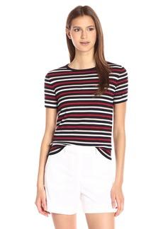 Theory Women's Tolleree S Refine Sweater  Deep Navy Stripe