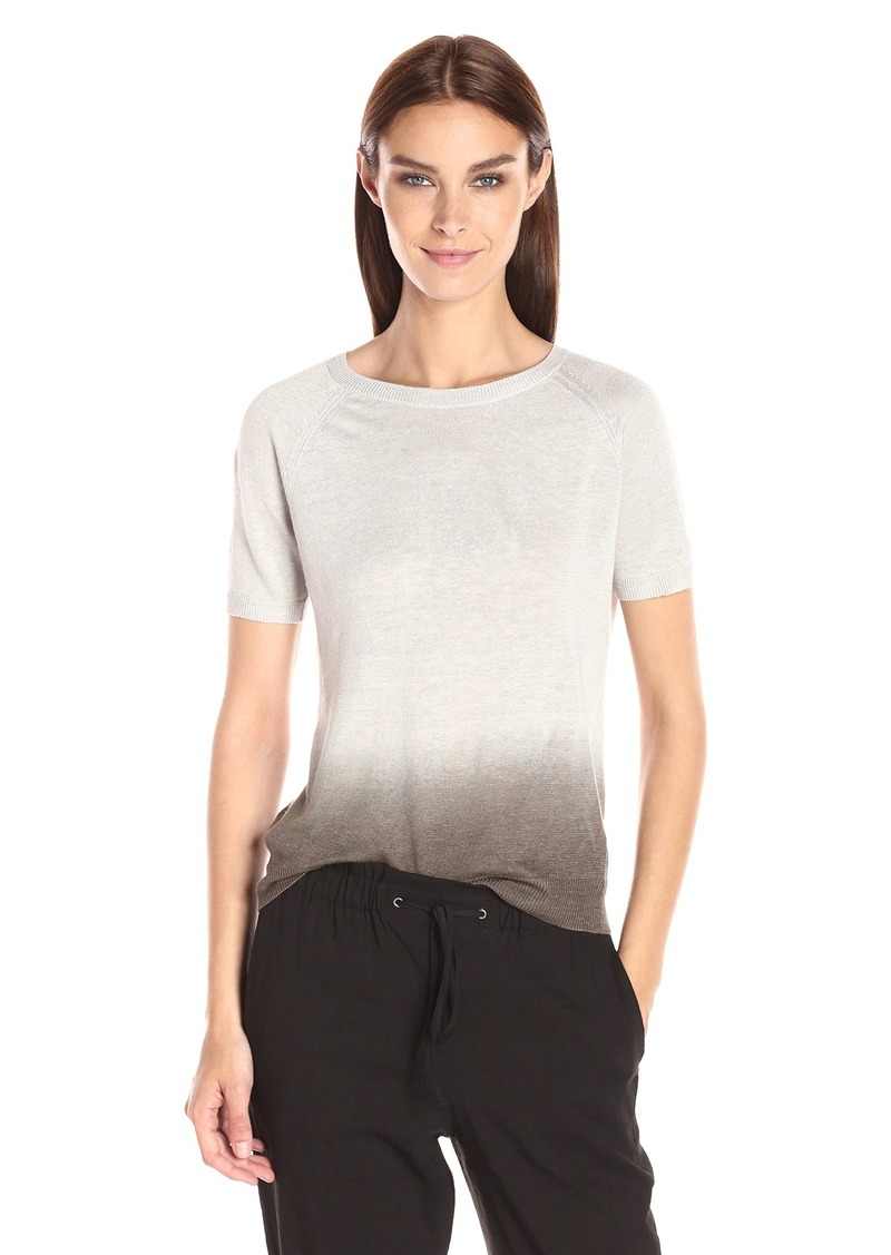 Theory Women's Toraely Shirt Pale Grey/Dark Moss M