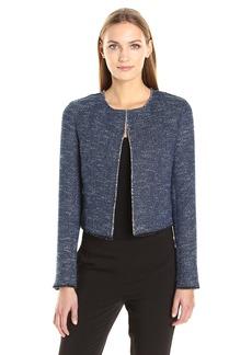 Theory Women's Ualana.Indigo Tweed Jacket